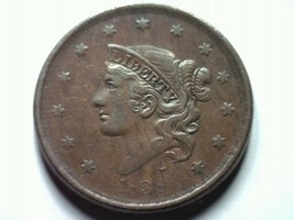 1838 Large Cent Penny Extra Fine / About Uncirculated Xf / Au N.6 Nice Original - $170.00