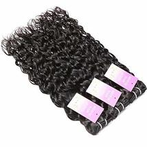 "Water Wave 3 Bundles 10"" 12"" 14"" Brazilian Human Hair 8A Unprocessed Wet and Wav image 2"