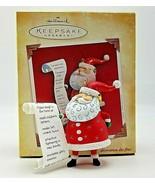 Hallmark Keepsake 2004 So Much To Do Santa With List Christmas Ornament Box - $8.10
