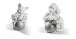 Lladro Retired SET 01007047-8 DREAMY KITTEN & TAKE ME HOME (RE-DECO) New... - $687.10
