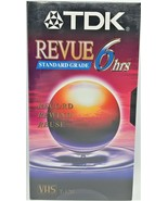 TDK Revue Standard Grade EP VHS 6 Hours T120  VHS Tapes Lot of 2 - $9.90