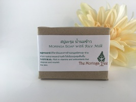 Leaves of Hope Moringa Soap with Rice Milk - Handmade, Natural Ingredients - $6.95