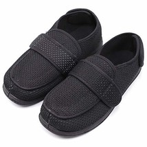Men's Extra Wide Width Diabetic Recovery Slippers, Adjustable Closures S... - $50.10