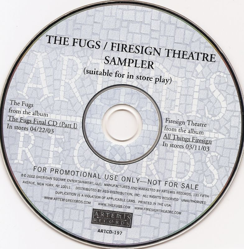 rare promo The Fugs Firesign Theatre CD Tuli Kupferberg