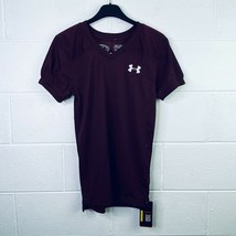 Under Armour Boy's YMD Football Practice Jersey Burgundy Loose Heatgear ... - $17.99