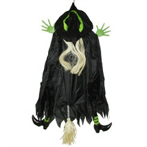 Northlight 4.5' Flying and Crashing Wicked Witch Hanging Halloween Decor... - $25.04
