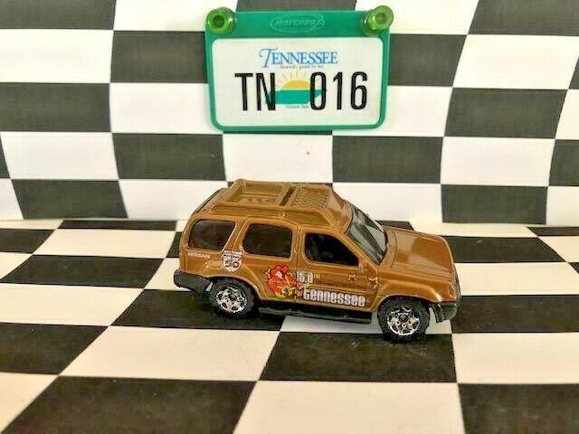 Matchbox Across America 016 Tennessee Nissan Xterra Gold Loose EX Plate