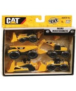 CAT Mini Machines 5 Pack  Excavator Dump Truck Backhoe Loader Bulldozer - $6.85