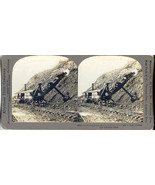 Taking a Cut  Panama Canal Stereoview Card - $15.00