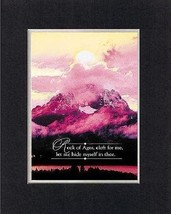 Rock of Ages, cleft for me, . . . 8 x 10 Inches Biblical/Religious Verses set... - $10.95