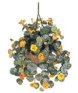 Large Silk Hanging Arrangement High Quality Realistic Permanent Natural ... - $60.73