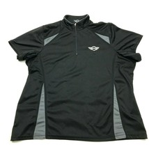 MINI COOPER Women's 1/4 Zip Polo Black Dry Fit Shirt Size XL Monogram Mo... - $19.94