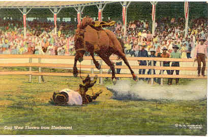 Earl West dumped by Bluebonnet Vintage Post Card