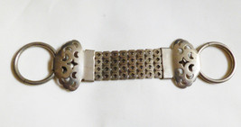 VTG Antique Silver tone metal dress belt buckle clip clasp - $27.72