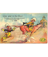 Leap Year In The West 1908 Vintage  Post Card - $7.00