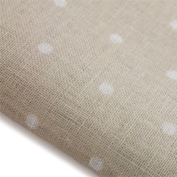Primary image for French Polka Dot Neutral 32ct linen 18x35 cross stitch fabric Wichelt