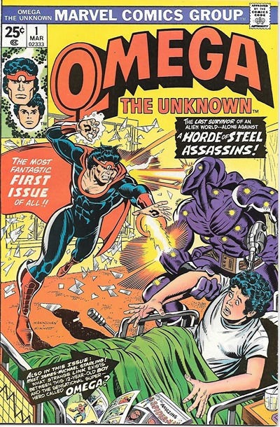 Omega The Unknown Comic Book #1, Marvel Comics 1976 VERY FINE+