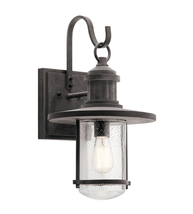 Kichler 49194WZC Rierwood Outdoor Wall Sconces 11in Weathered Zinc Aluminum - $299.99
