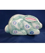 Porcelain Bunny with Blue Flowers - Like New! - $1.89
