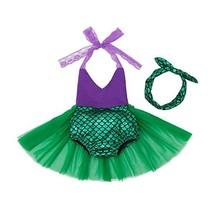 Mulfei Little Girls Tutu Dress Swimmable Mermaid Princess Bikini Swimsui... - $17.59