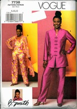 Unc Size 8 10 12 B Smith Tunic Duster Top Pants Vogue 7738 Pattern Bust 31 32 34 - $6.99
