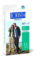 JOBST Activewear Compression Socks, 20-30 mmHg, Knee High, Large Full Calf, Whit - $65.92
