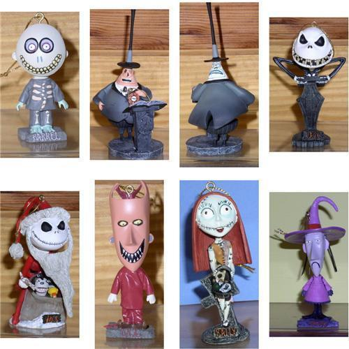 Jack sant Myaor LSB  7 bobble head ornaments Nightmare Before Christmas - $90.00