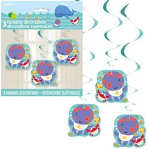 "Under the Sea Pals 3 Pc Hanging Swirl 26"" Baby Shower 1st Birthday - $3.79"