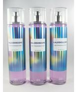 (3) Bath & Body Works Purple Kaleidoscope Rainbow Fragrance Body Mist 8oz New - $52.41