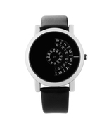 Women Men Watch Stylish Leather Strap Modern Quartz Watches Turntable #B... - $19.39