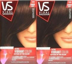 2 Vidal Sassoon 4GN London Luxe Dark Royal Chestnut Permanent Hair Dyes - $21.99