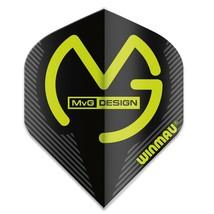 Winmau Mega MVG Black Standard Dart Flights - $1.75