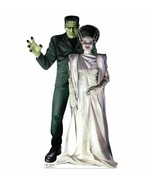 Frankenstein and Bride Halloween Lifesize Standup Standee Cardboard Mons... - $42.56