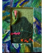 "Felted fiber art ""Guardian of the Hills"" - $17.50"