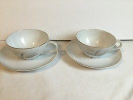 Kaysons Fine China Cup & Saucer Set Golden Rhapsody Set of 2 - $12.90