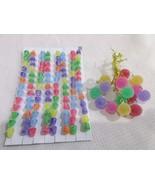 Christmas Sugar Coated MINI candy Gumdrops & Garland Tree Ornaments - $21.99