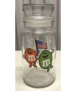 M & M Jar with lid XXIII Olympics Games Mars INC.1983 Anchor HOCKINGS Glass - $19.83