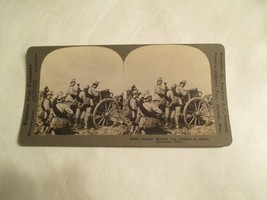German Germany Machine Gun Division in action Stereoview Card - $14.99