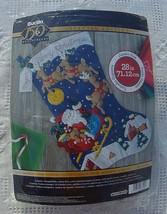 JUMBO! New Vintage Bucilla Christmas Night Jumbo Christmas Stocking Kit #86740 S - $57.95