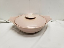 1950s Monterey Pottery California Pink Mauve Speckled Casserole Covered Dish - $34.30