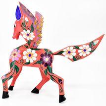 Handmade Alebrijes Oaxacan Wood Carving Painted Folk Art Pegasus Large Figure image 4