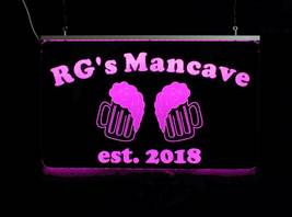 Personalized Beer Mug Bar Sign, Man Cave Sign, Game Room Sign image 7