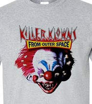 Killer Klowns from Outer Space T-shirt retro 1980s horror movie 100% cotton tee image 1