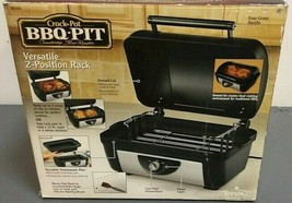 Gently Used Rival BB200 Crock-Pot BBQ Pit Countertop Slow Roaster  W/Rac... - $254.79