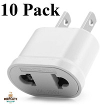 10 Pack Quality EU Euro Europe to US USA AC Power Plug Converter Travel ... - $14.35