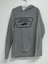VANS Boys Off The Wall Hoodie Sweatshirt SZ S Gray Black Graphic Hooded ... - $14.99