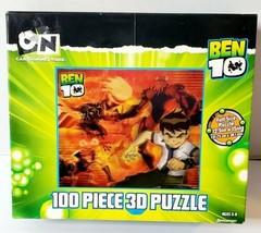 BEN 10 3D Puzzle 100 Piece Alien Force Holographic Cartoon Network Pressman - $14.95