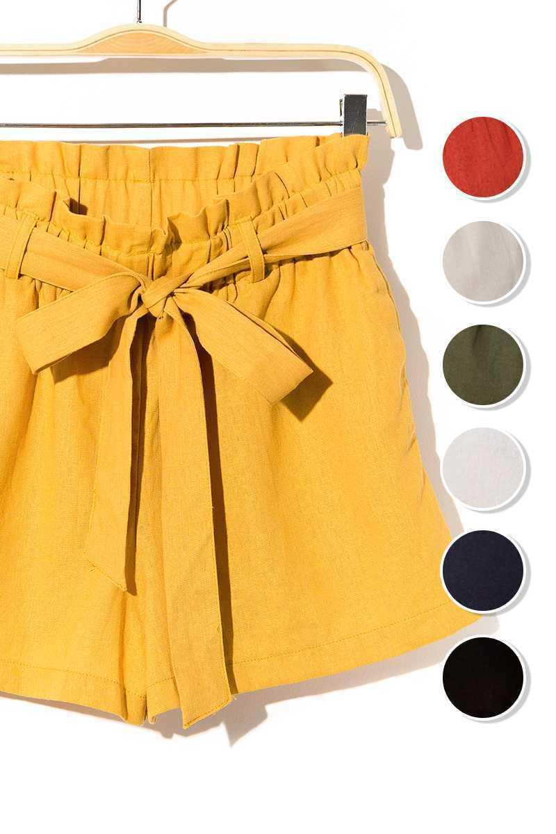 Women High Waist Shorts in Gray only