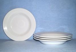 Homer Laughlin FIESTA White 4 Rimmed Soup Bowls - $17.99