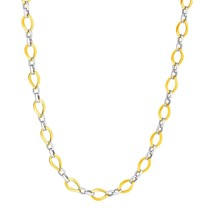 Twisted Oval Chain Necklace in 14k Two Tone Gold - $748.90